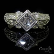 Sparkling Mixed Cut Diamond Cluster Ring