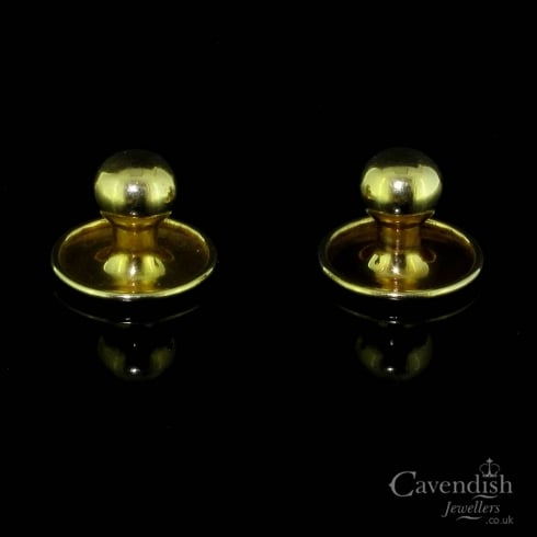 Splendid 9ct Gold Collar Dress Studs