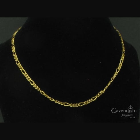 Splendid Gold Figaro Chain Necklace