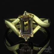 Stunning 9ct Gold, Ametrine & Diamond Ring