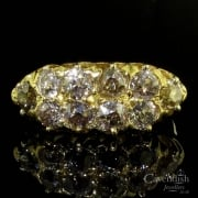 Stunning Victorian 18ct Yellow Gold Old Cut Diamond Cluster Ring