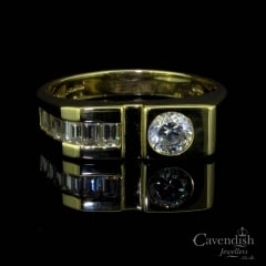 Stylish 14ct Gold Cubic Zirconia Ring