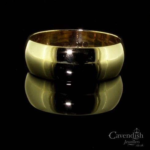 Stylish 9ct Gold Wedding Band