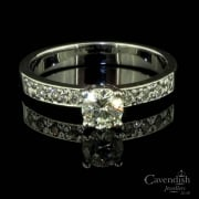Stylish Diamond Solitaire Ring