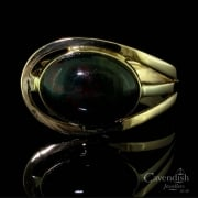 Stylish Yellow Gold And Bloodstone Dress Ring