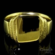 Superb 18ct Gold Gerts Signet Ring