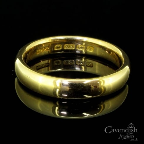 Superb 22ct Gold Wedding Band Ring from Cavendish Jewellers Ltd UK