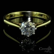 Superb 9ct Gold And Diamond Solitaire Ring