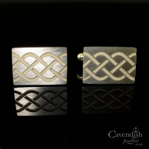 Superb Silver Celtic Style Cufflinks