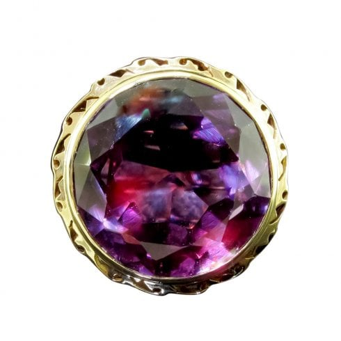 Synthetic Alexandrite Dress Ring