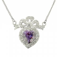 Synthetic Amethyst and Cubic Zirconia Necklace
