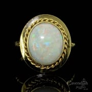 Timeless 9ct Gold & Opal Single Stone Ring