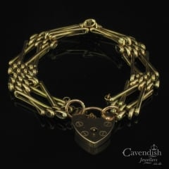 Timeless 9ct Rose Gold Gate Bracelet