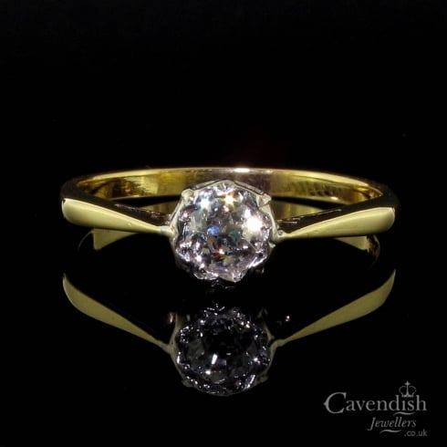 Timeless Gold And Old Cut Diamond Solitaire Ring