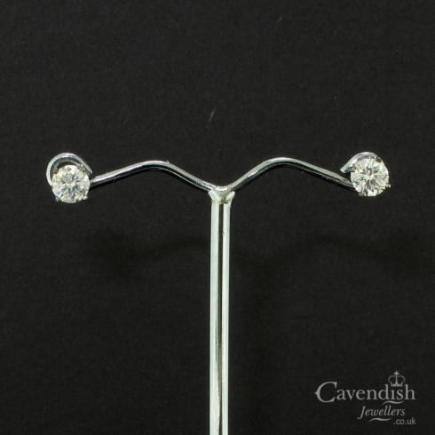 Timeless White Gold And Diamond Solitaire Stud Sarrings