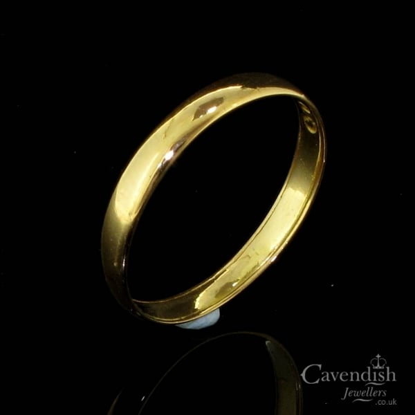 Understated 22ct Gold Plain Wedding Ring from Cavendish Jewellers