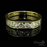 Unusual Diamond Half Eternity Band