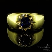 Victorian 18ct Gold Sapphire Signet Ring