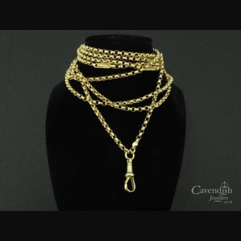 Victorian 9ct Gold Guard Chain Necklace