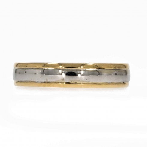 Vintage 18ct 2 Colour Gold Wedding Ring