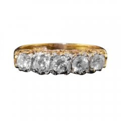 Vintage 18ct Gold Diamond Five Stone Ring