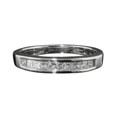 Vintage 18ct White Gold Diamond Half Eternity Ring