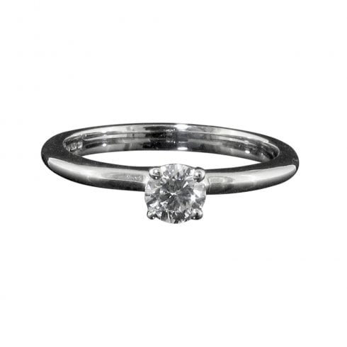Vintage 18ct White Gold Diamond Solitaire Ring