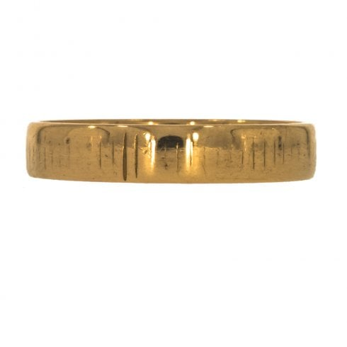 Vintage 22ct Gold 4mm Wide Wedding Band Ring