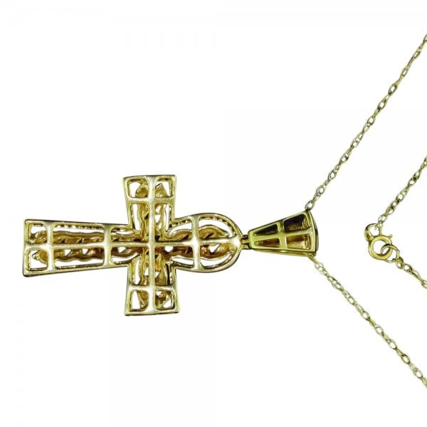 2859b20d0 Vintage 9ct Gold And Diamond Cross Pendant - Necklaces from ...