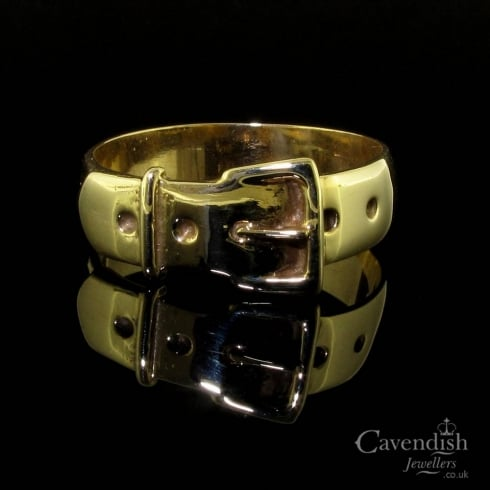 Vintage 9ct Gold Buckle Ring