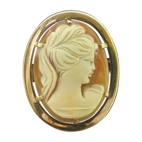 Vintage 9ct Gold Cameo Brooch