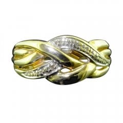Vintage 9ct Gold Diamond Knot Ring