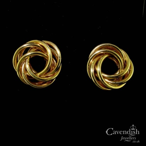 Vintage 9ct Gold Knot Earrings
