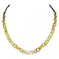 Vintage 9ct Gold Link Chain Necklace