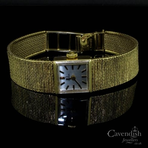 Vintage 9ct Gold Omega Watch