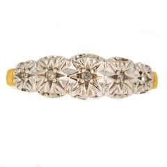 Vintage Gold And Diamond Five Stone Ring