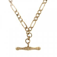 Vintage Gold Figaro T Bar Chain