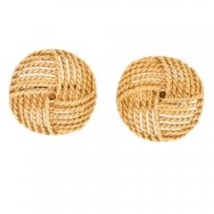 Vintage Gold Rope Knot Cartier Cufflinks