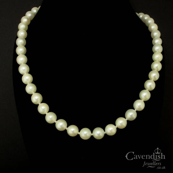 Mikimoto Pearls Necklace: Vintage Mikimoto Cultured Pearl Necklace
