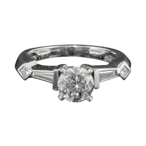Vintage Mixed Cut Diamond Solitaire Ring