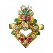 Vintage Multi Gemstone Dress Ring
