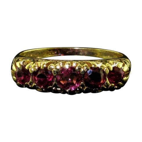 Vintage Ruby Half Hoop Ring