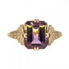 Vintage Synthetic Ametrine Ring