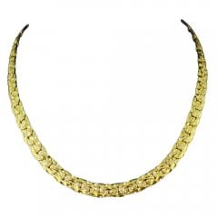 Vintage Textured 9ct Yellow Gold Necklace