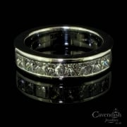 White Gold And Diamond Half Hoop Eternity Ring