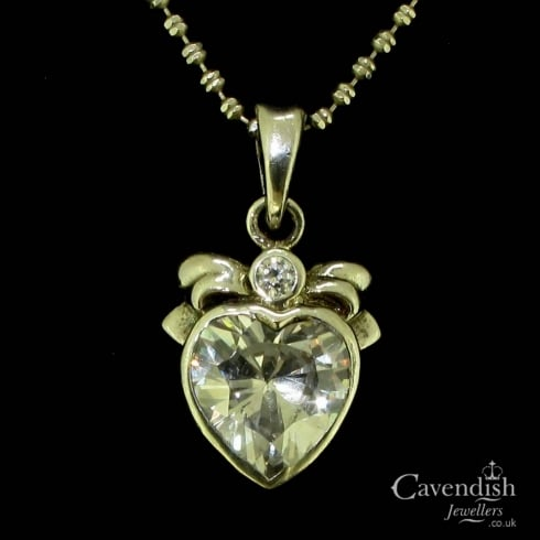Wonderful Cubic Zirconia Heart Pendant