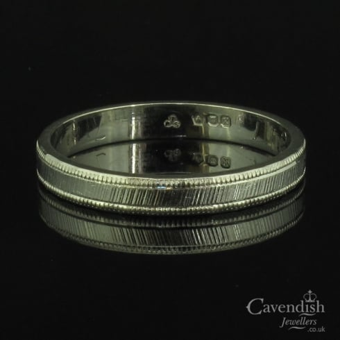 Wonderful Platinum Patterned 2.5mm Wedding Band Ring