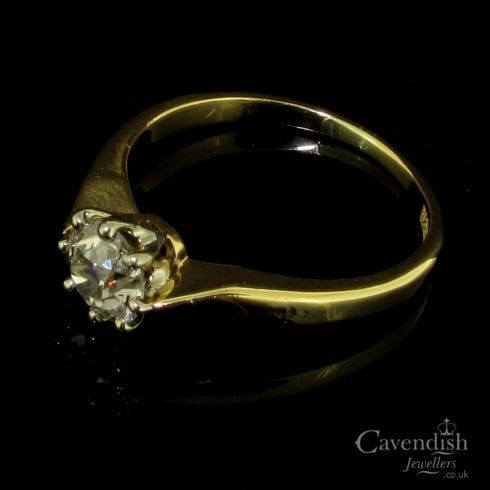 Wonderful Victorian Old Cut Diamond Solitaire Ring