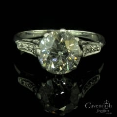 Wondrous Old Cut Diamond Solitaire Ring