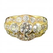 Yellow Gold & Old Cut Diamond Cluster Ring